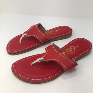 Kino-Made In Key West Red Thong Sandals Size 10